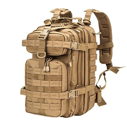 XWLSPORT Military Tactical BackpackArmy Small 3 Day Assault Pack Military Sport Camping Hiking Trekking Bag School Travel Gym Carrier (Coyote)