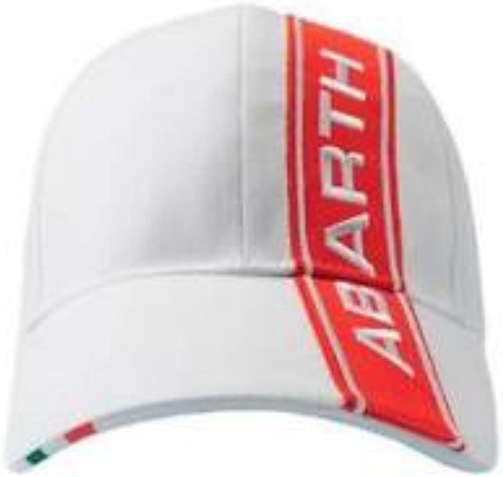 Color Blanco con Logotipo de Rayas Rojas. Abarth Gorra Rally Fiat