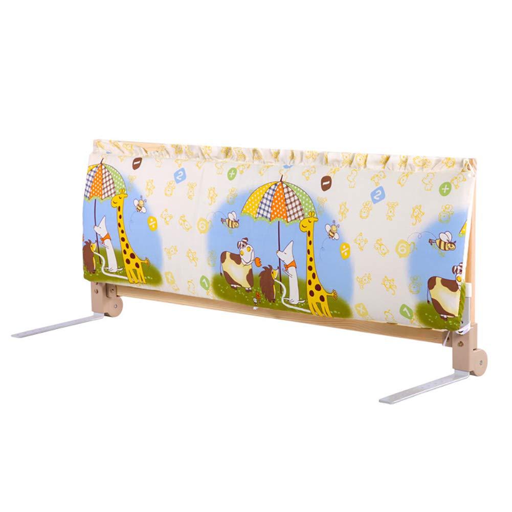 ベッドフェンス- 1.2メートルロングベッドレイル幼児用、折り畳み式ベビーベッドレール木製スイングダウンフェンスアンチ秋ガードレール   B07JM5NKQ2