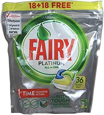 Fairy lavavajillas tabs platinum 18+18 capsulas gratis.