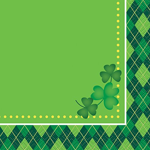 Argyle St. Patrick's Day Beverage Napkins, 16ct