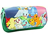 Pokemon Anime Game Cartoon Zip Pencil / Cosmetic Case from Outlander w/Gift Box