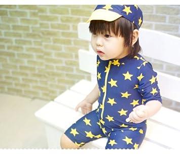 480550e9a4c75 超可愛い韓国子供服 水着 帽子付き 2点セット  子供 水着 ラッシュガード