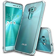 Zenfone 3 Case, Ringke [FUSION] Clear PC Back TPU Bumper [Drop Protection/Shock Absorption Technology] Raised Bezels Protective Cover For Asus Zenfone 3 2016 - Clear