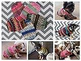 Dog/Puppy/Kitten Sweater XXXS/XXS 1-2 lb Fair Isle Rustic Hand Knit with Crochet Flower Option for Newborn to 2 Pounds