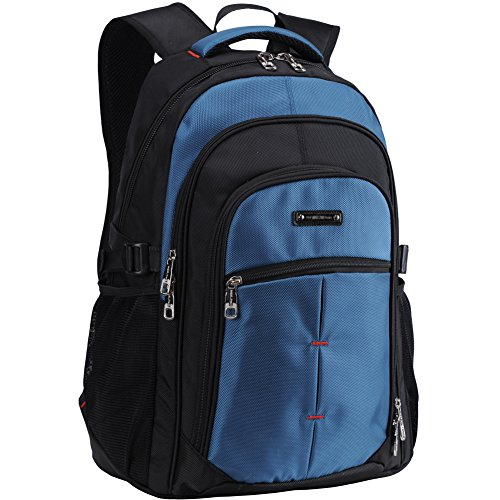 College Laptop Backpack School Bag for Men or Women Fit 15.6 Inch Computer-Blue by CUICHENG