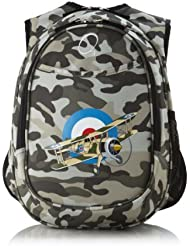 Obersee Kids All-in-One Pre-School Backpacks with Integrated Cooler, Camo Airplane by Obersee