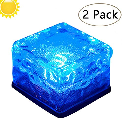 Frosted Glass Solar Brick Paver Light in US - 7