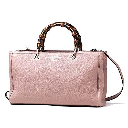 Gucci Bamboo Shopper Mauve Powder Pink L - Gucci Pink Shopping Results