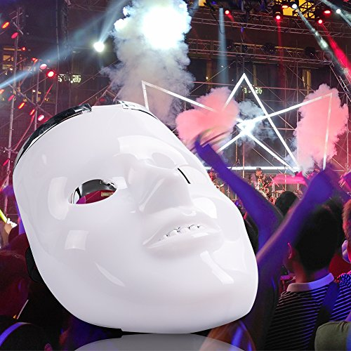 Michael Myers Clown Costumes (Light up Mask, DAXIN DX LED Halloween Scary Mask Purge Anonymous Mask Cool Christmas Mask Skeleton Costume for Men Women Kids, 6 Modes, 2 in 1)