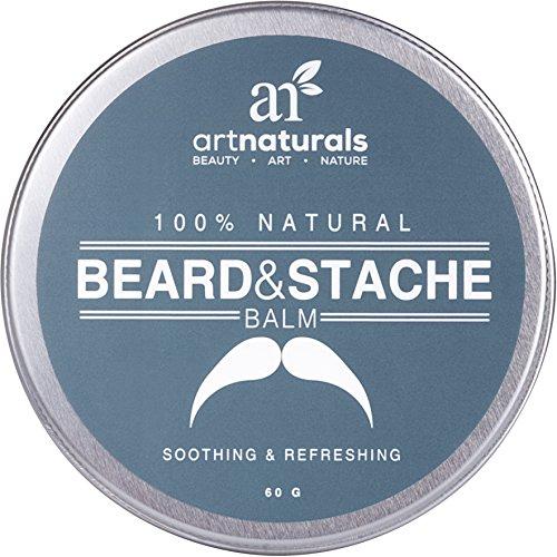 Art Naturals barbe & moustache Baume / huile / cire / laisser dans conditionneur 2,0 oz - 100 % naturel conditionné qui apaise les démangeaisons - épaissit, renforce, adoucit, Tames & Styles pilosité faciale.