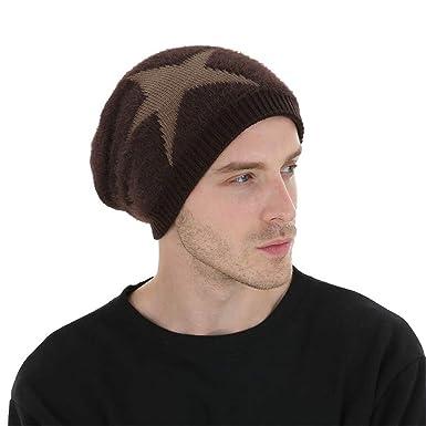 Sombrero de Gorro Unisex para Hombres Gorro de Lana de Punto ...
