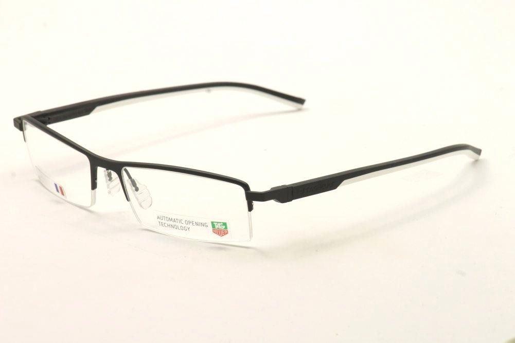 f86f3a6264 Amazon.com  Tag Heuer Prescription Eyeglasses - Automatic TH 0821 011 -  Black White  Health   Personal Care