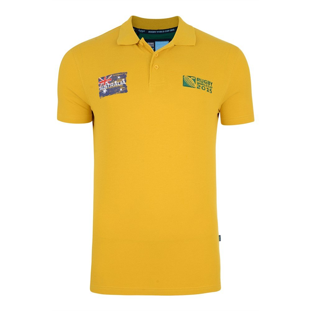 Australia Rwc 2015 Polo Shirt (yellow): Amazon.es: Deportes y aire ...