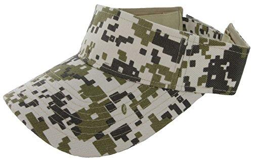 Red Digi Camo - DealStock Plain Men Women Sport Sun Visor One Size Adjustable Cap (29+ Colors) Digi Camo