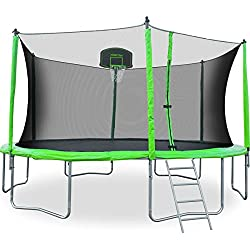 Merax 12-Feet Round Trampoline with Safety Enclosure, Basketball Hoop and Ladder (12 FT)