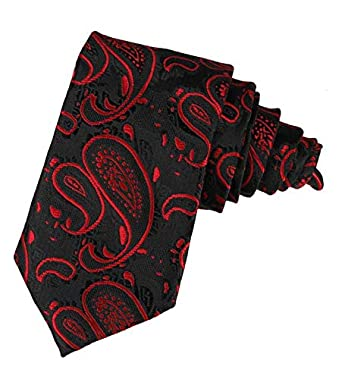 15ac9e69be7b Adorn Paisley Design Men's Tie(Black): Amazon.in: Clothing & Accessories