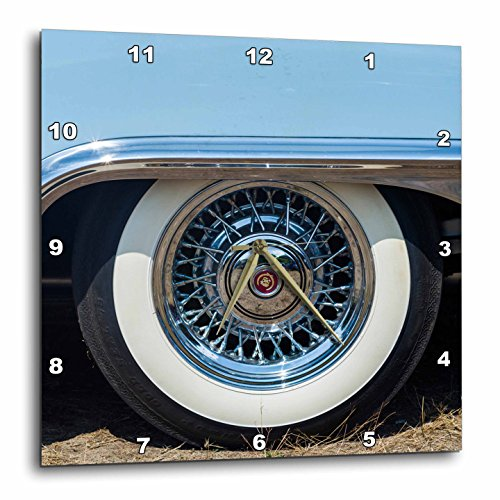 3D Rose Massachusetts-Gloucester-Antique Car Show-1950s Convertible Tire Wall Clock, 13″ x 13″ 51ZQd3rg7hL