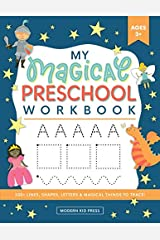 My Magical Preschool Workbook: Letter Tracing | Coloring for Kids Ages 3 + | Lines and Shapes Pen Control | Toddler Learning Activities | Pre K to Kindergarten (Preschool Workbooks) Paperback