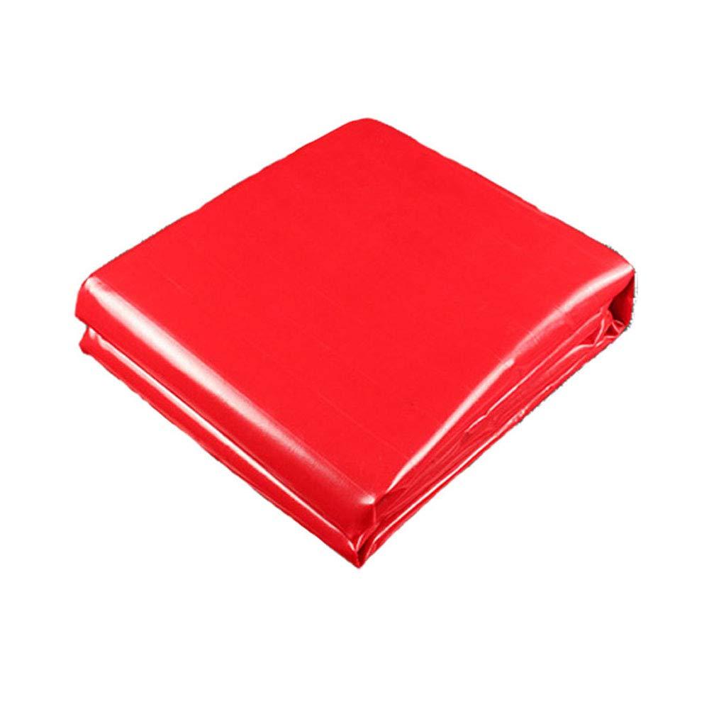 シート 450グラム/平方メートル赤パンチ防水日焼け止めターポリン0.4ミリメートルPVCシェード三輪車トラックカバー キャンバス (色 : Red, サイズ さいず : 6x8m) 6x8m Red B07GKSMF34