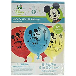 Mickey Mouse 1st Birthday 'Fun to Be One' Latex Balloons (15ct)