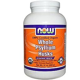 Now Foods, Organic Whole Psyllium Husks, 12 oz (340 g) - 3PC