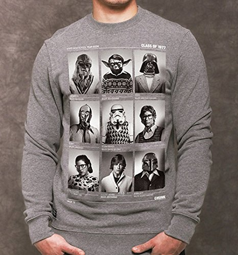 mens grey class of 77 wars sweater from chunk co uk
