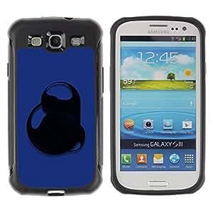 LASTONE PHONE CASE / Suave Silicona Caso Carcasa de Caucho Funda para Samsung Galaxy S3 I9300 / Blue Abstract