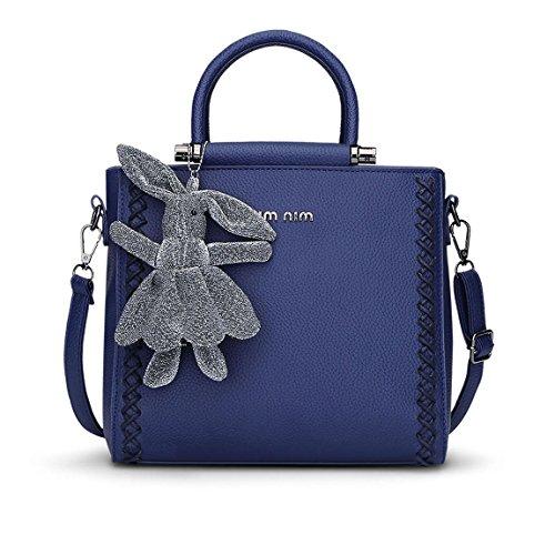 Bags Shoulder Body Women's Blue Bags Bags Handbags Cross Faux Handle Top Leather qvF6qpn
