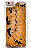 Dynamic Quicksand Glitter Phone Case Cover For iPhone 6S / 6 - Never Grow Up