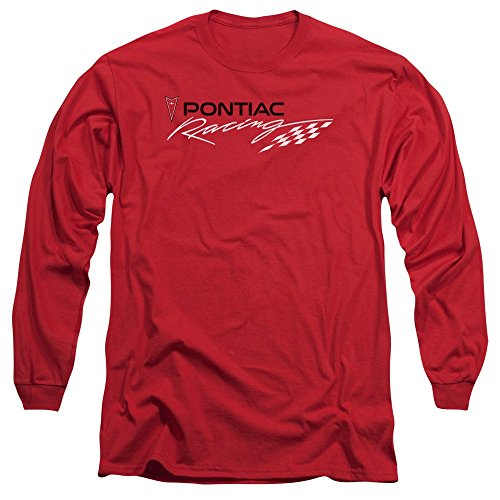 Pontiac Red Pontiac Racing Mens Long Sleeve Shirt Red Md - Pontiac Racing