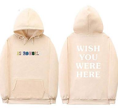 e4ce6dc5d910 Amazon.com: SQWT Unisex Astroworld Hoodie Top Sweatershirt Jacket Coat:  Clothing