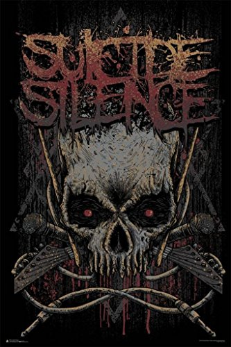 Suicide Silence- Gothic Jolly Rodger Poster by Scorpio Posters