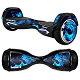 MightySkins Protective Vinyl Skin Decal for Razor Hovertrax 2.0 Hover Board Self-Balancing Smart Scooter wrap cover sticker skins Blue Flames
