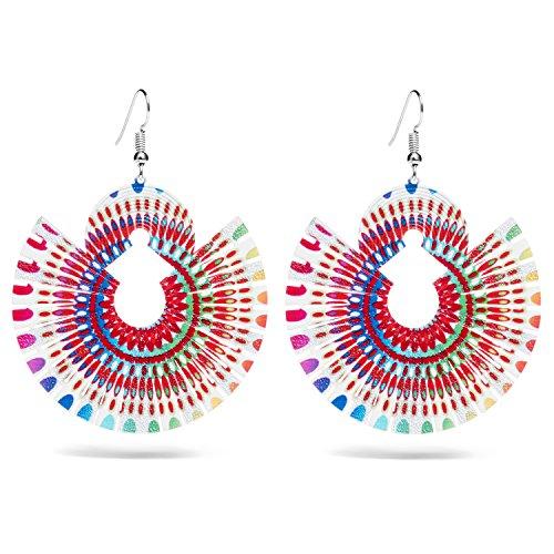 Apoje Funky Lightweight Bohemian Geometric Drop Earrings | Fashion Statement for Women & Girls
