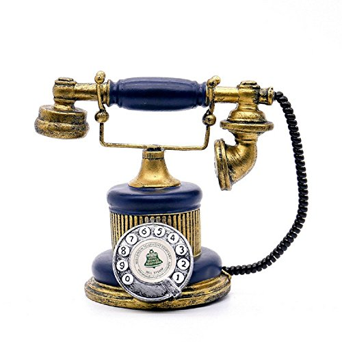 1Pack Antique Telephone Creative Retro Decorative Phone Resin Rotary Dialing Telephone Decorating Cafe Bar Window Decoration Home Decoration Props (Blue) (Work Vintage Phones That)