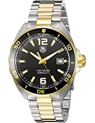 TAG Heuer Mens Formula 1 Swiss Quartz Gold and Stainless Steel Dress Watch, Color:Two Tone (Model: WAZ1121....