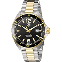 TAG Heuer Men's 'Formula 1' Swiss Quartz Gold-Tone and Stainless Steel Dress Watch, Color:Two (Model: WAZ1121.BB0879)