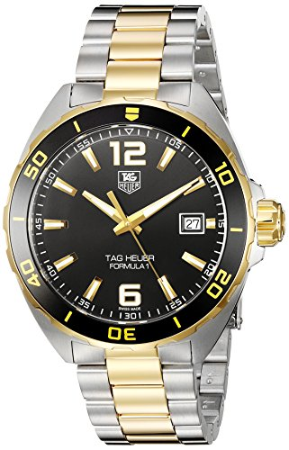 TAG Heuer Men's Formula 1 Swiss-Quartz Watch with Two-Tone-Stainless-Steel Strap, 20 (Model: ()