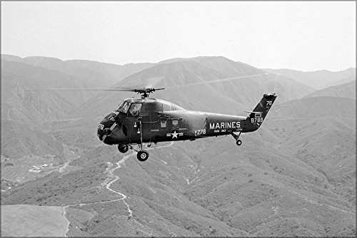 20x30 Poster; Marine Corps Sikorsky H-34 Uh-34D Seahorse Helicopter Tustin 1964
