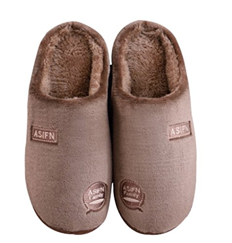 Cattior Heren Bont Gevoerd Warme Indoor Slippers Winter Slippers Koffie