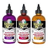 Unicorn SPiT Sparkling - Gel Stain & Glaze - 8oz Sunset Sparkle Collection - Violet Vulture, Dolly Firebird, Golden Gosling