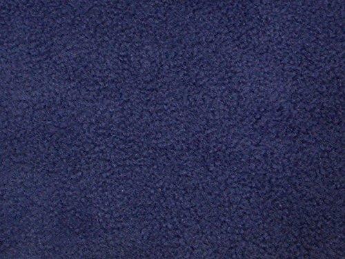 Solid Anti-Pill Polar Fleece; No-Sew Tie Blanket Fabric (Navy) -