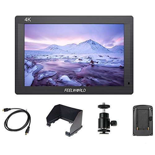 Feelworld Fh7 7  4K Ultra Thin Lightweight On Camera Monitor With Hdmi Input  Output Ips Full Hd 1920X1200 Isp160 Support Most Dslrs And Camcorders