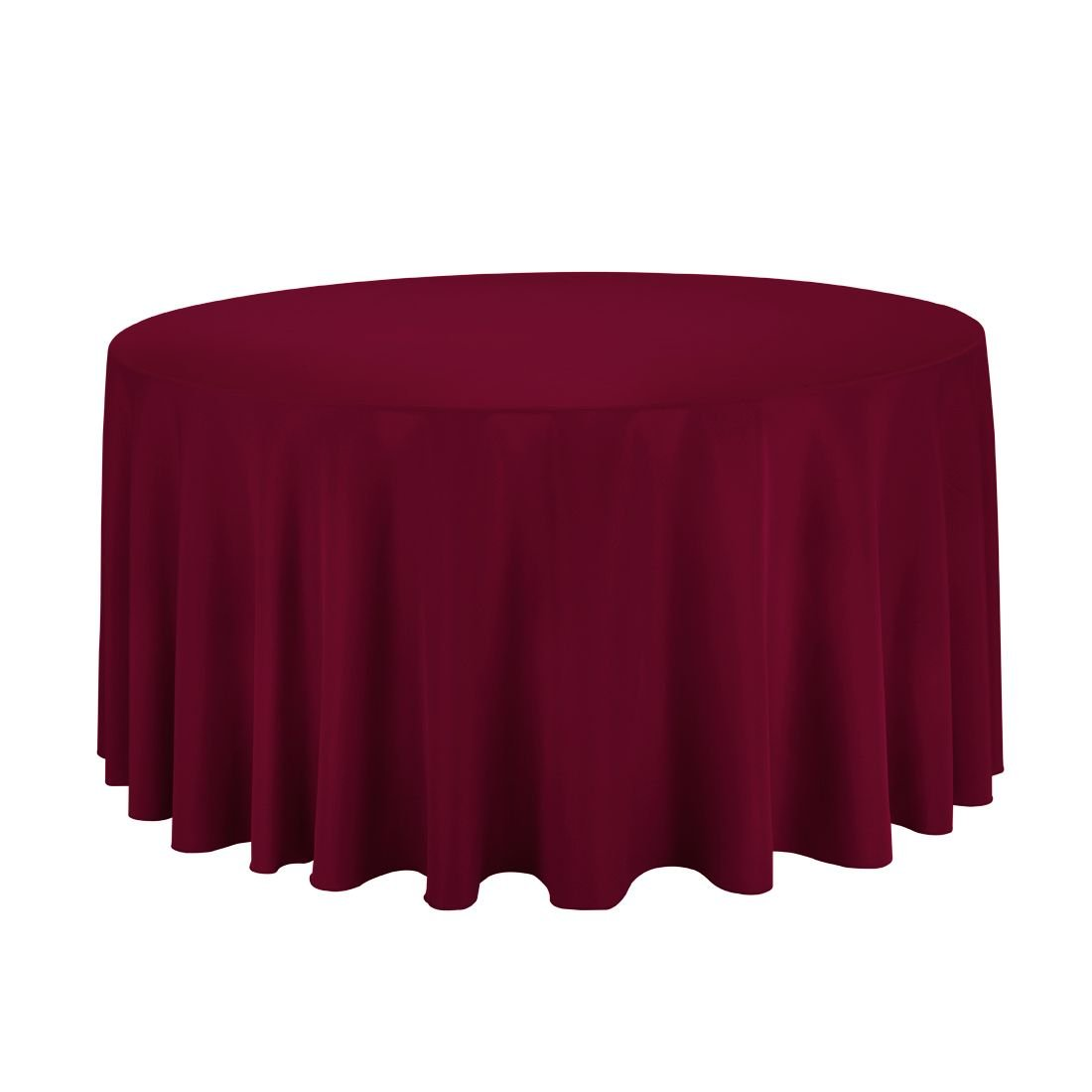 Gee Di Moda Tablecloth - 120'' Inch Round Tablecloths for Circular Table Cover in Burgundy Washable Polyester - Great for Buffet Table, Parties, Holiday Dinner & More