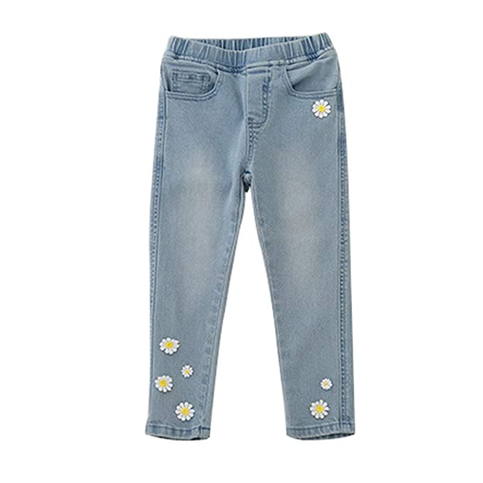 2633019489fcc junkai Children Boy Girl Denim Long Pants Solid Color Unisex Jeans Soft  Casual Trousers Kids Height line fit 100-150cm  Amazon.co.uk  Clothing