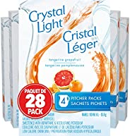 Crystal Light Pitcher Packs, Tangerine Grapefruit, 112 Packets (28 Boxes of 4 Packets)