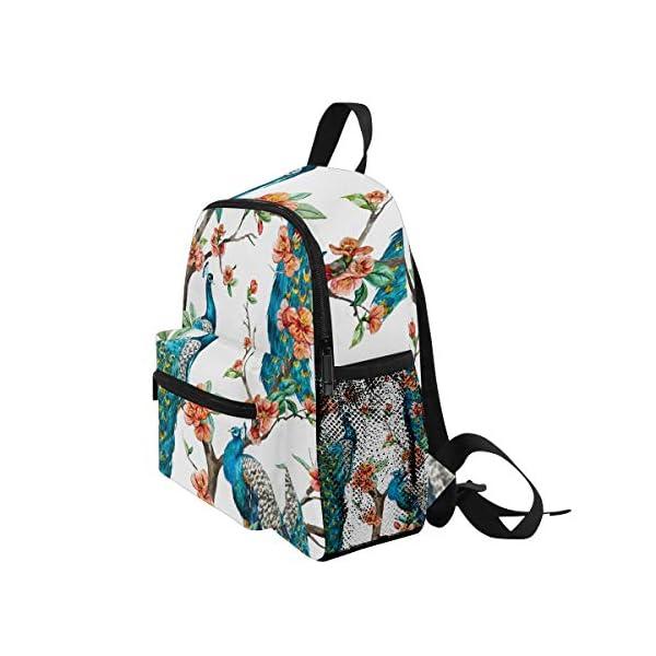 Peacock Animal Zaino Scuola Multi Carino Bookbags per la Scuola Ragazzi e Ragazze Ragazze Ragazzi Borse Bambini Viaggio… 3 spesavip