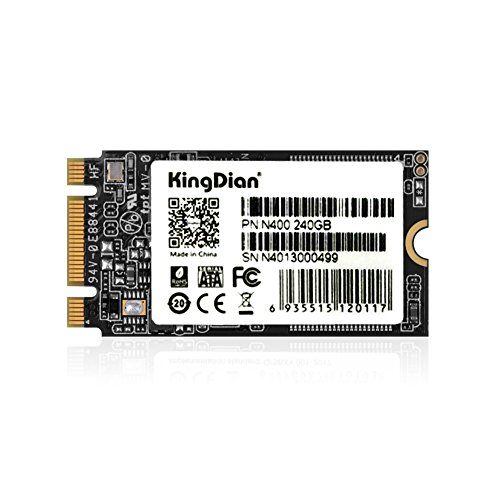 KingDian M.2 NGFF M.2 2242 2280 Solid State Drive Disk for Desktop PCs and MacPro (N400 240GB 2242mm) by KINGDIAN