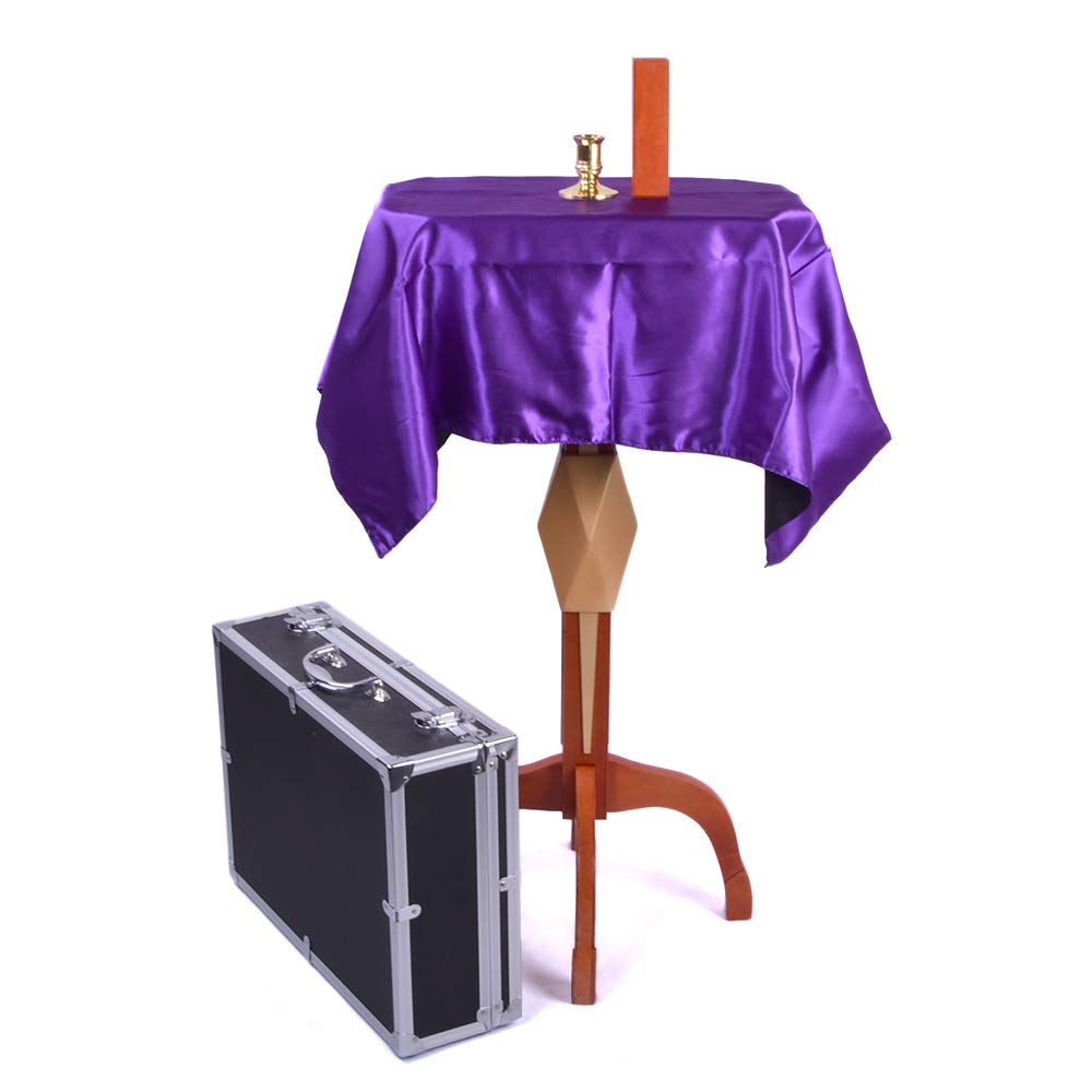 Doowops Deluxe Floating Table with Anti Gravity Vase Candlestick Magic Tricks Magician Stage Illusion Gimmick Props Floating Fly Magic